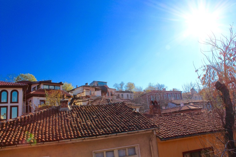 Plovdiv in December morning sun